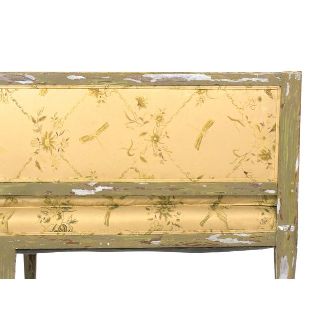 Italian Neoclassical Gray Polychrome Painted Settee Sofa Canape, Early 19th Century For Sale - Image 10 of 13