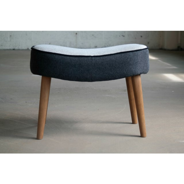 Charcoal Danish 1950's Lounge Chair Model Pragh With Ottoman by Madsen and Schubell For Sale - Image 7 of 12