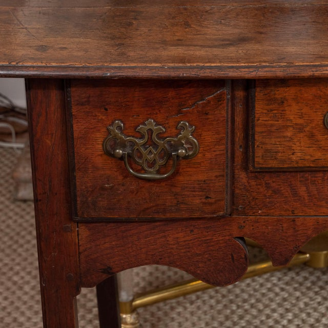 Chippendale 18th Century English Oak Side Table For Sale - Image 3 of 10
