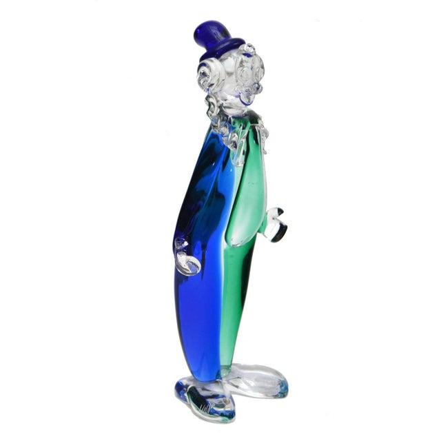 Original Archimede Seguso Art Glass Clown. Hand Blown in a beautiful blue color. Signed under the shoe: Archimede Seguso...