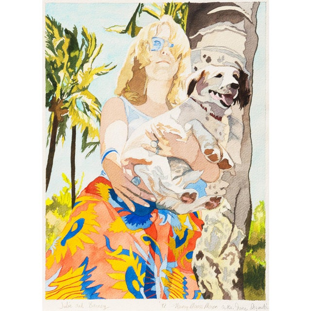 Signed lower right, titled lower left 'Julie and Barney', and dated 1972. Further inscribed, ';a.k.a. Irene Dogmatic'. A...
