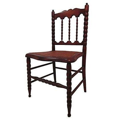 Early 1800s Hand Carved Child's Chair For Sale