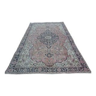 Vintage Turkish Sparta Carpet - Large Area Rug - 7′1″ × 10′8″ For Sale