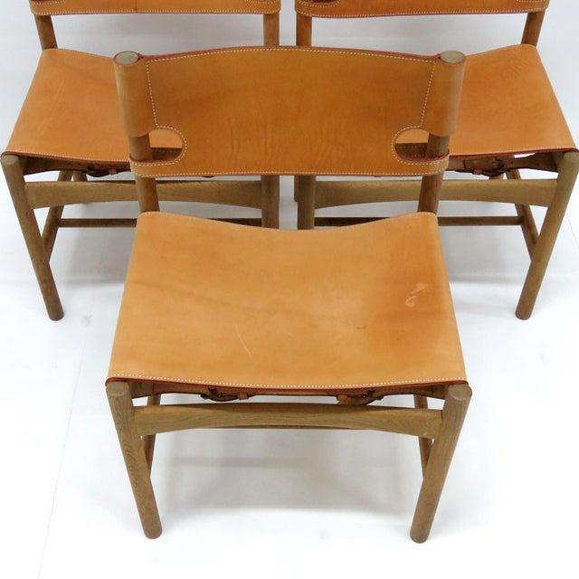 "1960s Vintage Børge Mogensen ""Hunting"" Chairs- Set of 6 For Sale - Image 10 of 11"