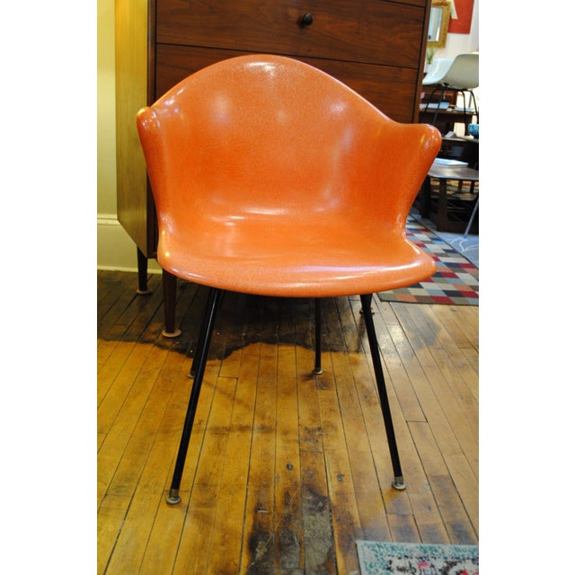Mid-Century Modern Mid Century Modern Fiberglass Shell Armchair by Cole Steel Co.-1950's For Sale - Image 3 of 7