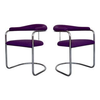 Mid-Century Modern Anton Lorenz Chrome Chairs- A Pair For Sale
