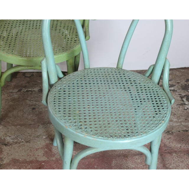 1940s Vintage Bistro Chairs- Set of 4 For Sale - Image 4 of 8