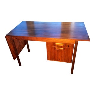 1960s Vintage Rosewood Danish Modern Arne Vodder Desk For Sale