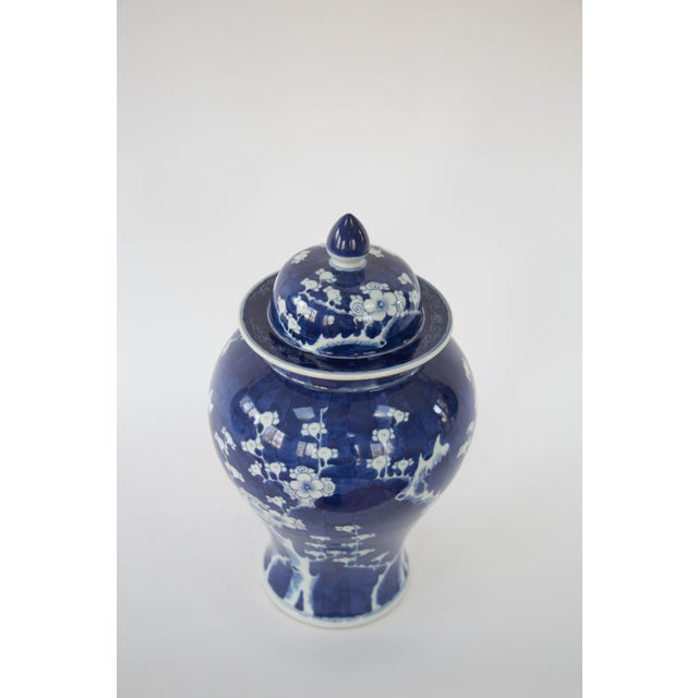 Blue & White Cherry Blossom Temple Jars - A Pair - Image 9 of 9