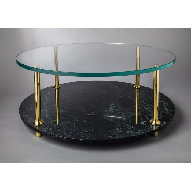 Brass Mgb Round Coffee Table by Artist Troy Smith - Contemporary Design - Artist Proof - Custom Furniture For Sale - Image 7 of 7