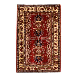 Pakistani Caucasian Rug - 4′1″ × 6′2″ For Sale