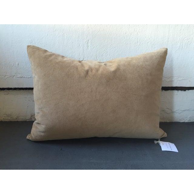 Vintage Silk Velvet Ikat Pillow - Image 3 of 3