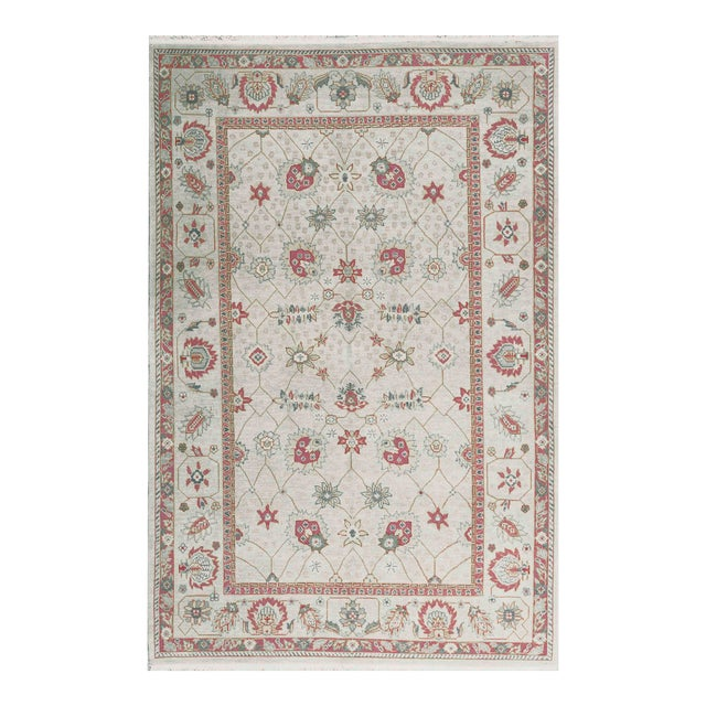 Traditional Hand Woven Wool Rug - 6'1 X 9'1 For Sale