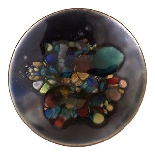 Mid-Century Modern Copper Enamel Pin Dish For Sale