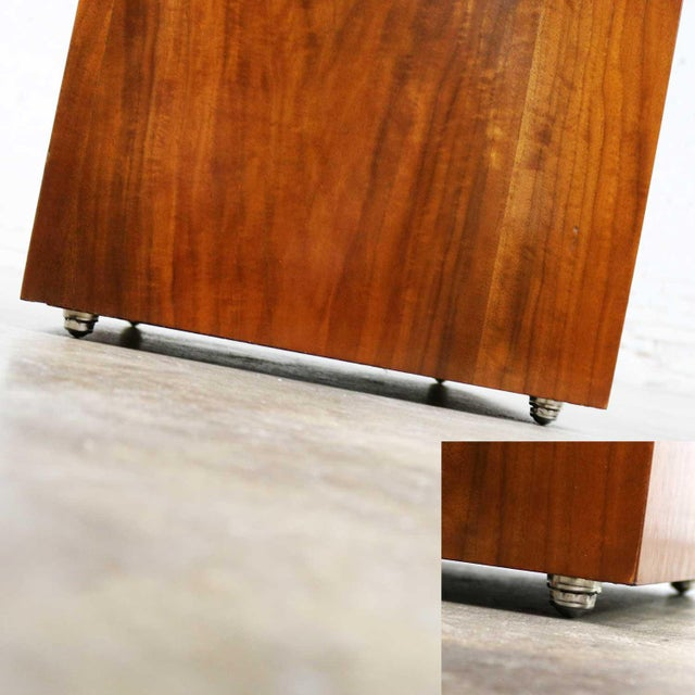Mid Century Modern Lane Rolling Cube Storage Ottoman With Game Board Flip Table Top For Sale - Image 9 of 13