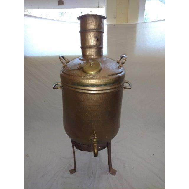 Gold Antique Turkish Water Dispenser Samovar For Sale - Image 8 of 8