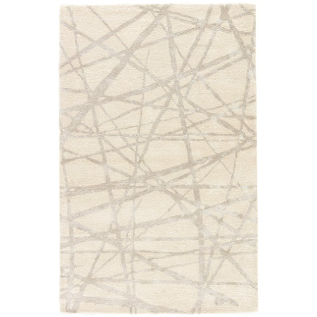 Nikki Chu by Jaipur Living Avondale Handmade Abstract White & Gray Area Rug - 9' X 12' For Sale In Atlanta - Image 6 of 6