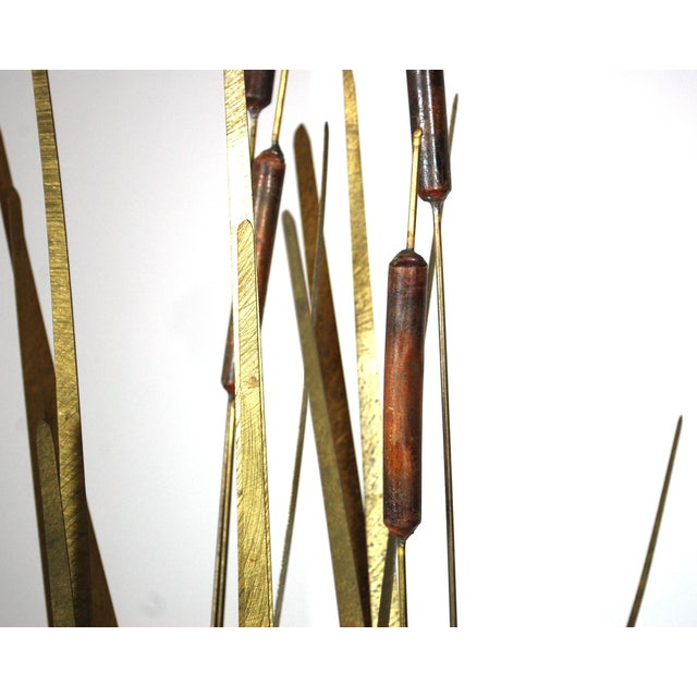 Mid Century Kinetic Sculpture of Cattails For Sale - Image 5 of 6