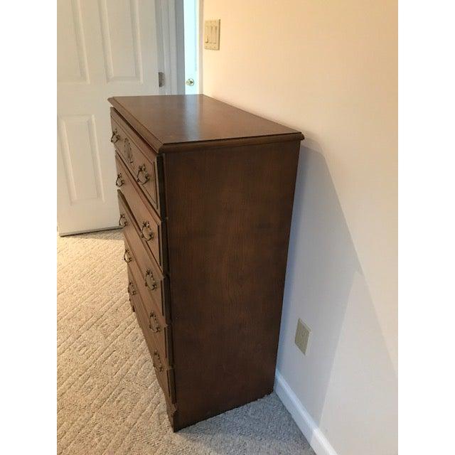 Wooden Shell Carved Dresser For Sale In Philadelphia - Image 6 of 7
