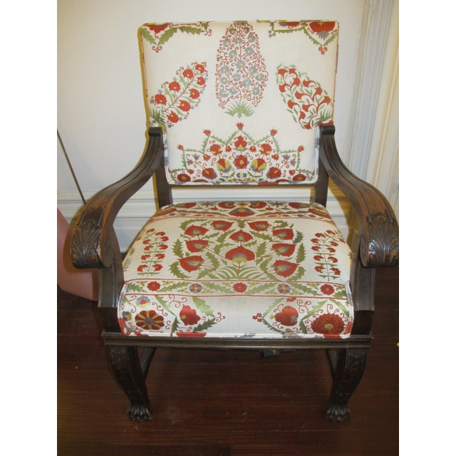 Suzani Upholstered Armchairs - A Pair - Image 3 of 10