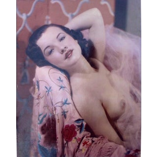 Nude Model Tricolor Carbro 1930's in a Dorothy Lamour Pose For Sale