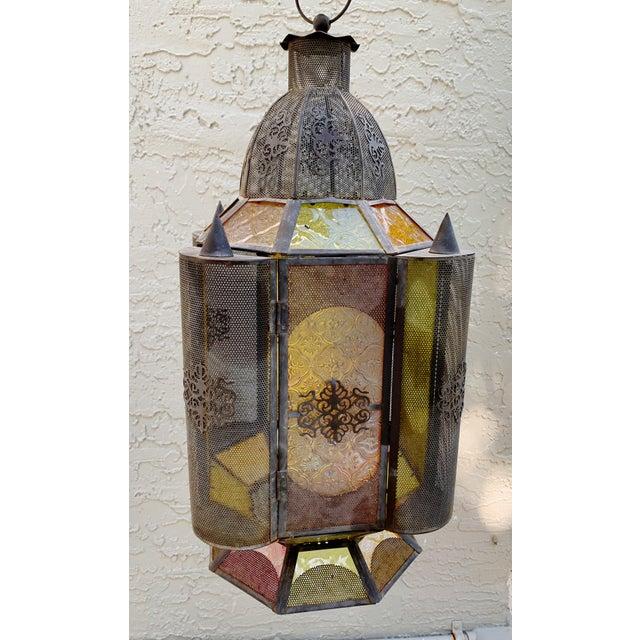 Vintage Moroccan Lantern Candle Holder For Sale - Image 9 of 12