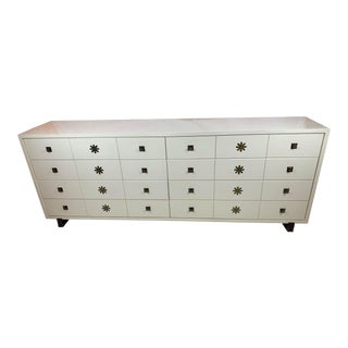 1960s Tommi Parzinger Originals Mid-Century Modern White Dresser For Sale
