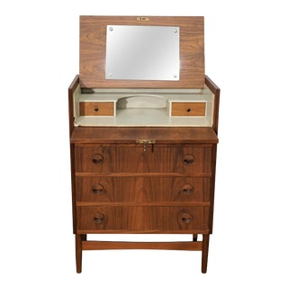 "Original Danish Mid Teak Dresser Vanity - ""Vinna"" For Sale"
