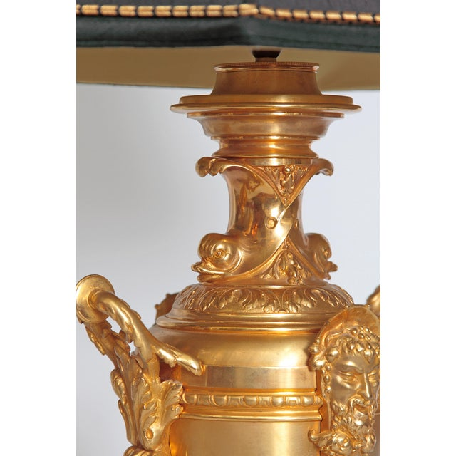 19th Century Continental Pair of Gilt Metal Vases as Lamps For Sale - Image 10 of 13
