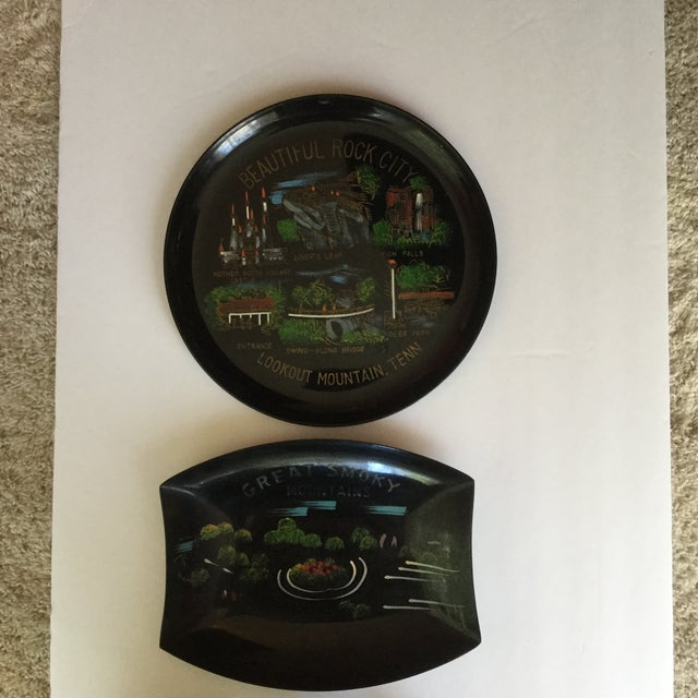 Tennessee Mid-Century Souvenir Trays - A Pair For Sale - Image 4 of 11