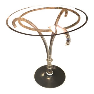 Mid-Century Lucite Palm Table Attributed to Karl Springer For Sale