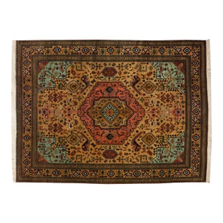 "Vintage Ardebil Carpet - 9' X 12'2"" For Sale"
