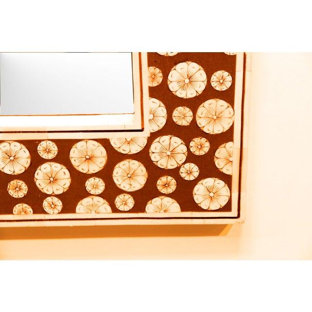 Square Inlaid Bone Mirror - Image 2 of 3