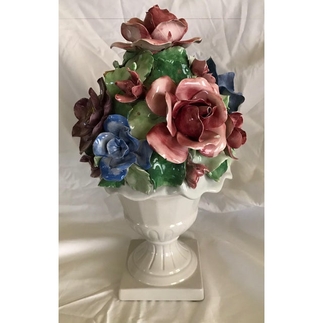 Capodimonte Style Porcelain Flower Arrangement - Image 6 of 6
