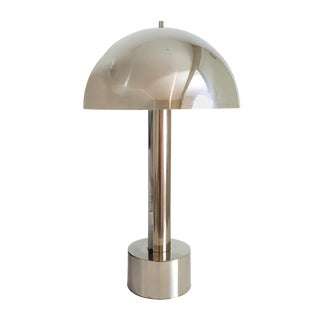 1960s Vintage Mid-Century Modern Laurel Chrome Dome Lamp For Sale