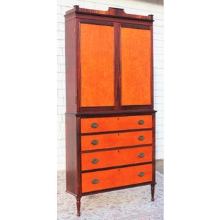 Hand Crafted Federal Linen Press Corner Cabinet Preview