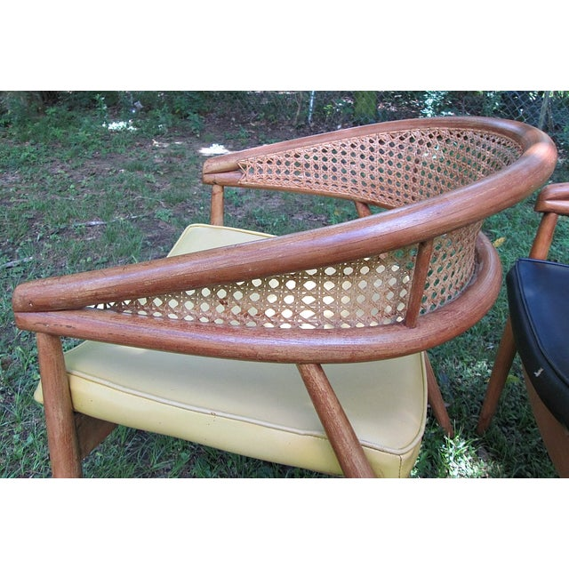 1960s James Mont Cane Back Chairs - Set of 4 - Image 5 of 10