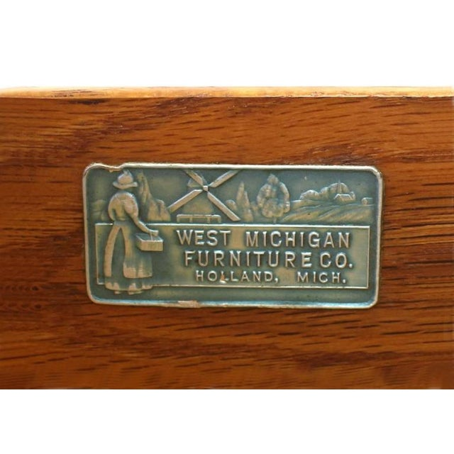 Vintage Mid-Century Concave Walnut Dresser For Sale - Image 9 of 10