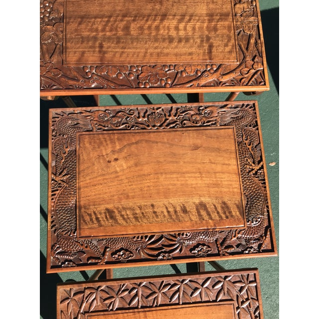 Antique Nesting Tables - Set of 4 For Sale - Image 10 of 11