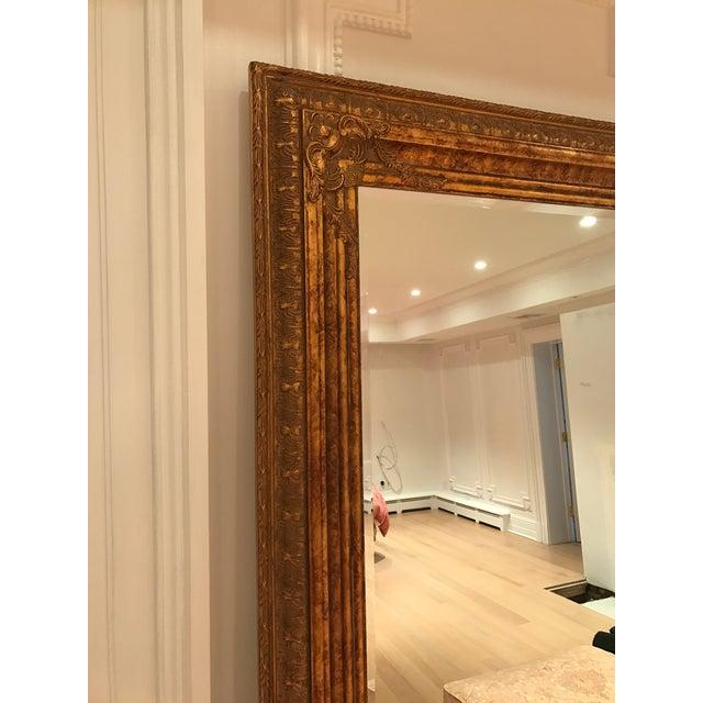 Gold Leaf Floor Antique Mirror - Image 2 of 3