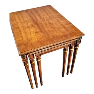 Vintage Henredon Neoclassical Louis XVI Style Nesting Tables For Sale