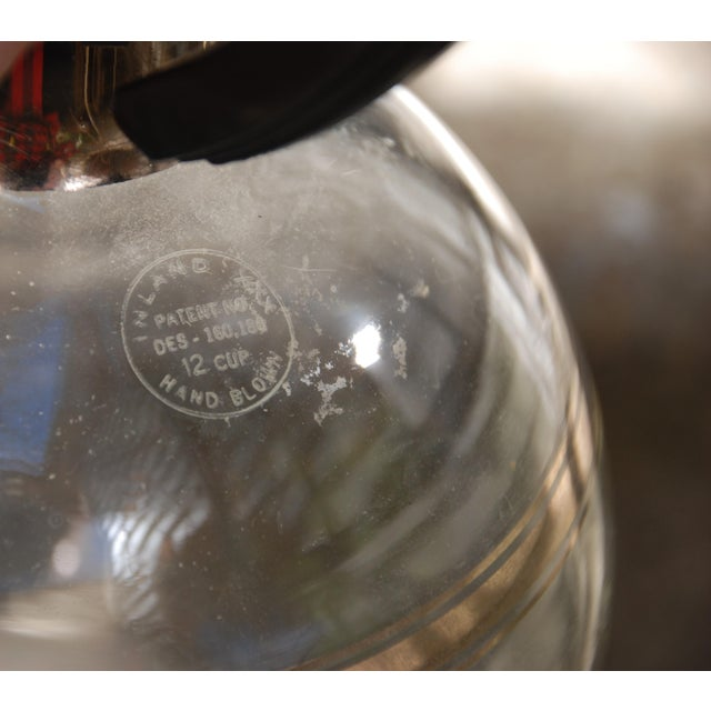 Transparent Mid-Century Inland Dorothy Thorpe Style Handblown Coffee Pot For Sale - Image 8 of 9