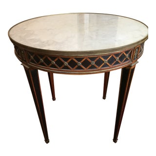 1940s Antique English Marble Topped Table For Sale