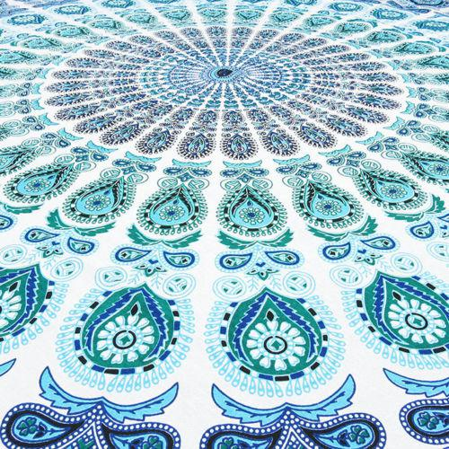 Boho Blue & White Beach Blanket - Image 3 of 4