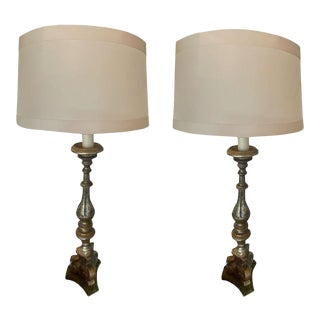 19th Century Italian Alter Stick Lamps - a Pair For Sale