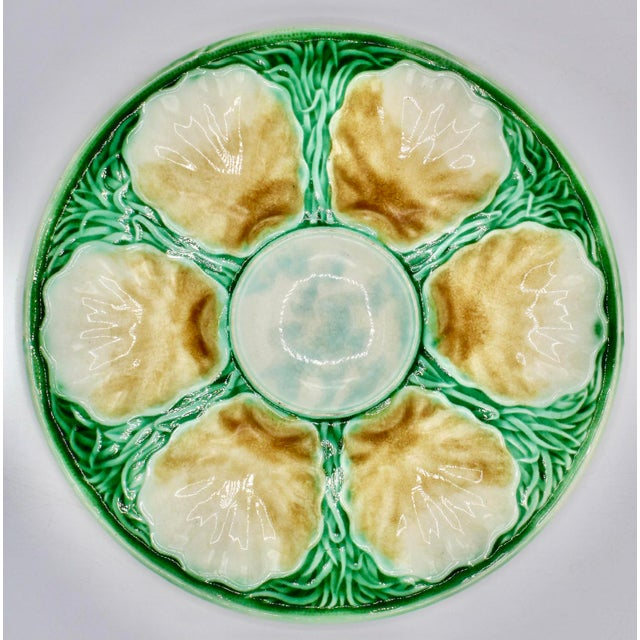 Art Deco French Ceramic Oyster Plate For Sale - Image 9 of 10