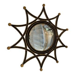 1990s Vintage Theodore Alexander Round Starburst Mirror For Sale