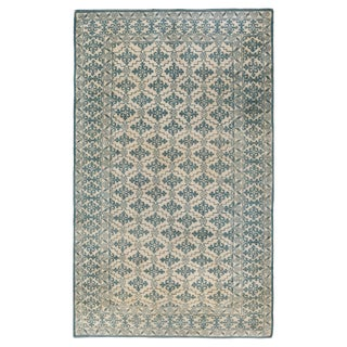 Blue Antique Indian Cotton Agra Rug For Sale
