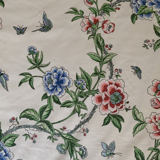 Brunschwig and Fils Flowering Tree Cotton Fabric- 4 Yards