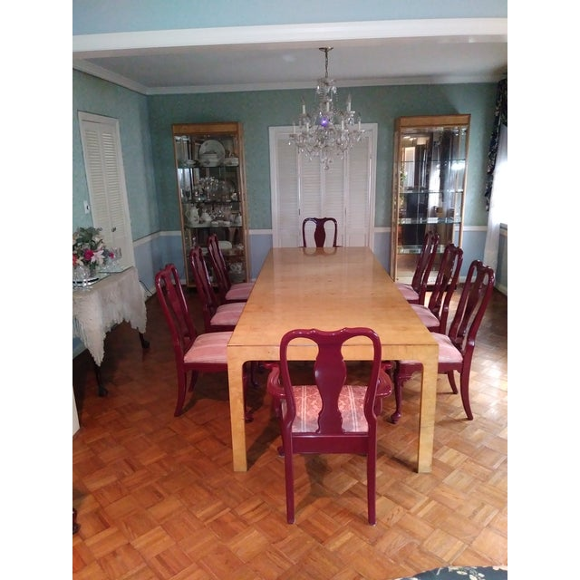 Henredon Walnut Parsons Table / Dining Set For Sale - Image 12 of 12